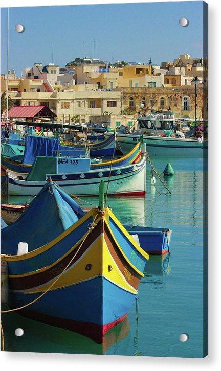 Largest Fishing Harbour Of Malta - Acrylic Print