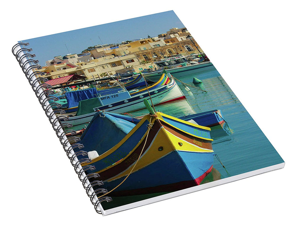 Largest Fishing Harbour Of Malta - Spiral Notebook