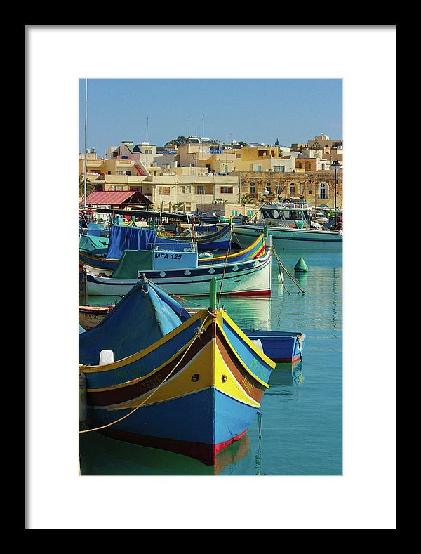 Largest Fishing Harbour Of Malta - Framed Print