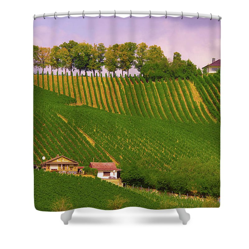 Luxembourg Vineyards Landscape  - Shower Curtain
