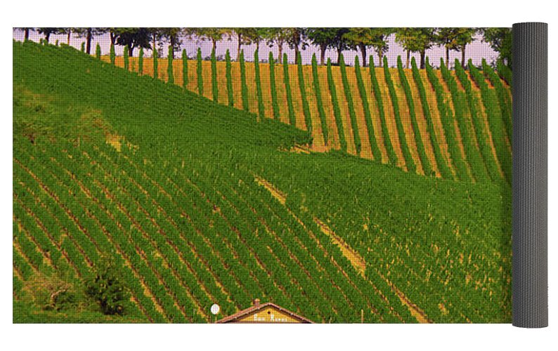 Luxembourg Vineyards Landscape  - Yoga Mat