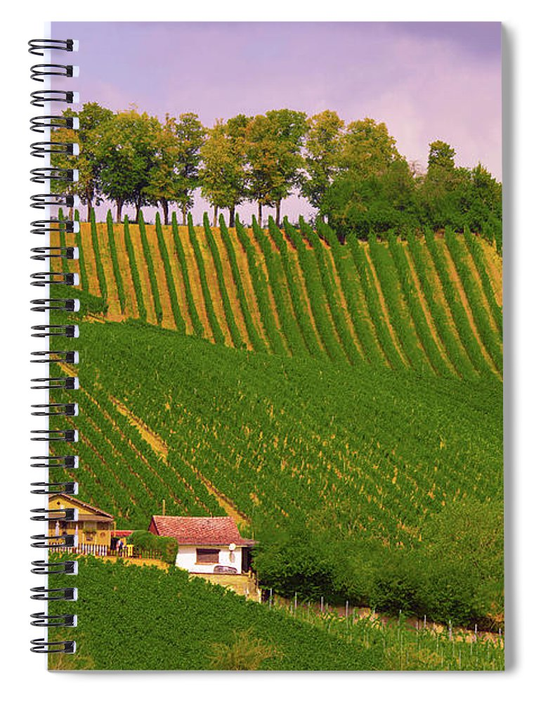 Luxembourg Vineyards Landscape  - Spiral Notebook
