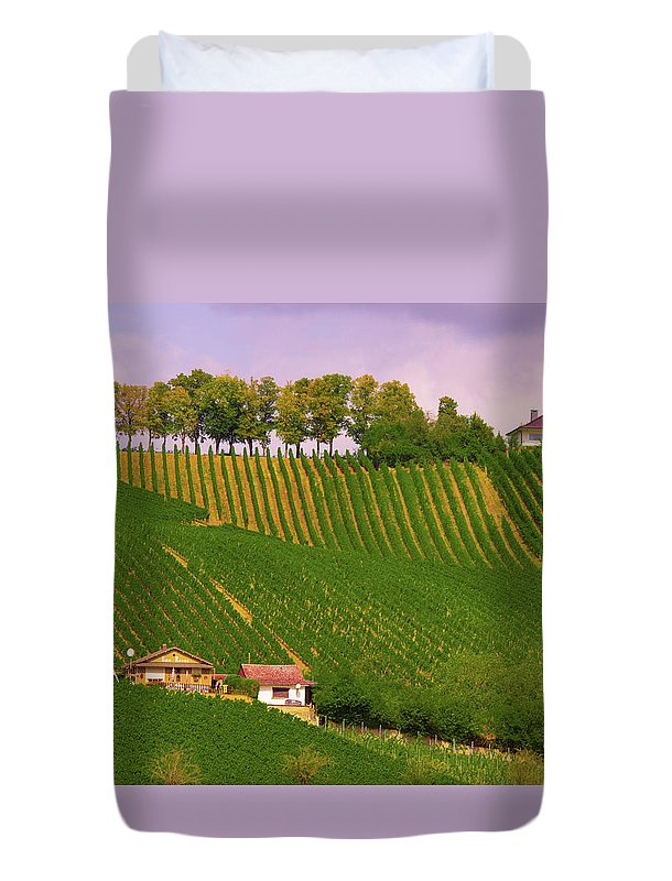 Luxembourg Vineyards Landscape  - Duvet Cover