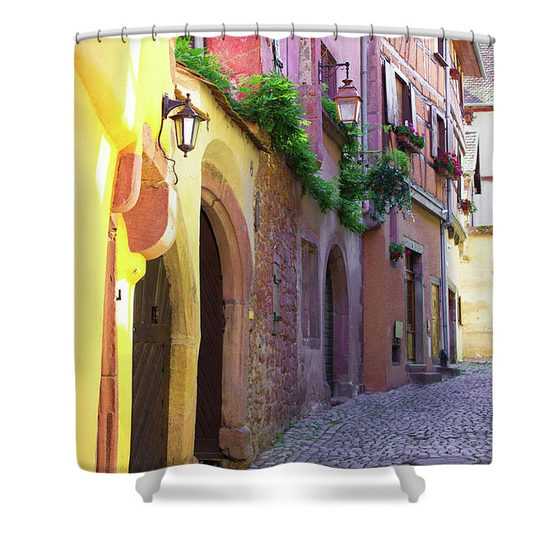Medieval Alsace, Region In France - Shower Curtain