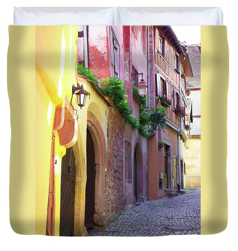Medieval Alsace, Region In France - Duvet Cover