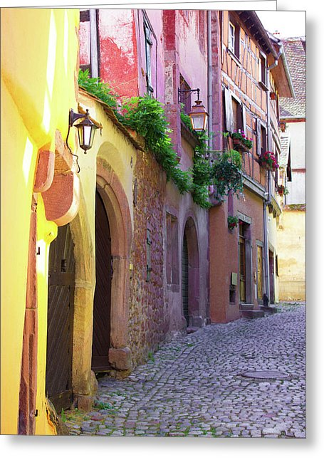 Medieval Alsace, Region In France - Greeting Card