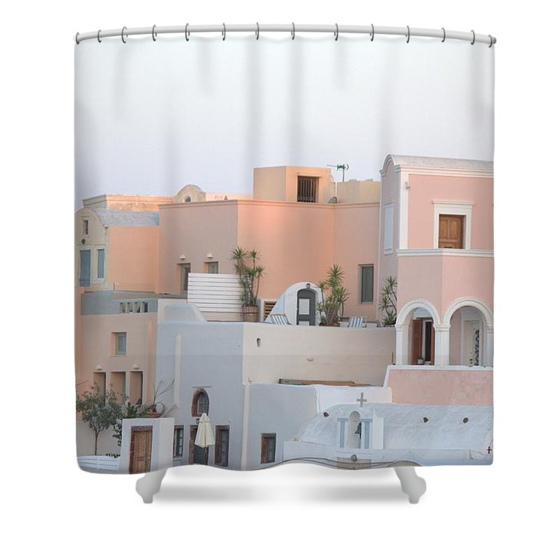 Oia Cityview - Shower Curtain