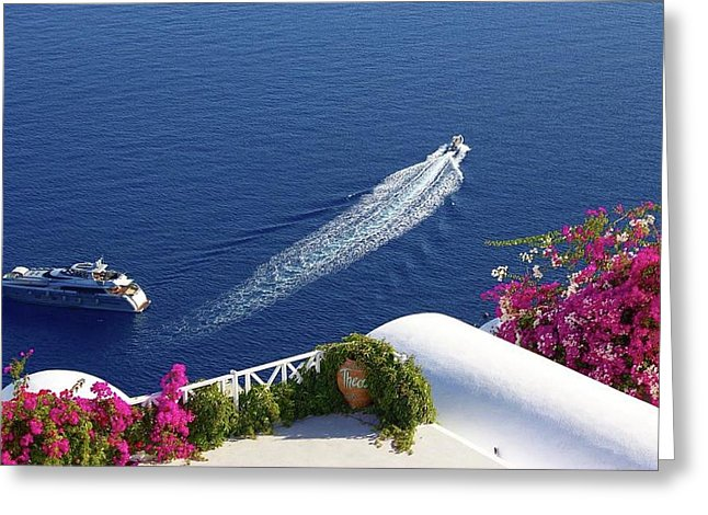 Oia, Santorini  - Greeting Card