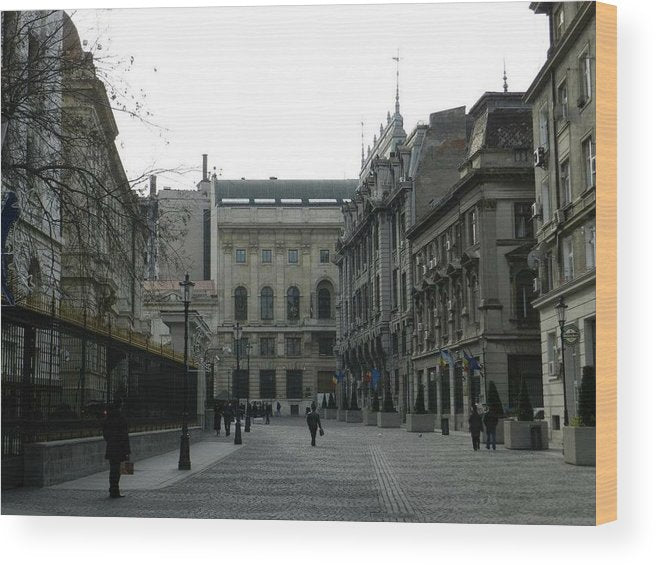 Old Bucharest - Wood Print