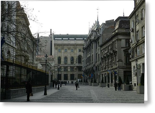Old Bucharest - Greeting Card