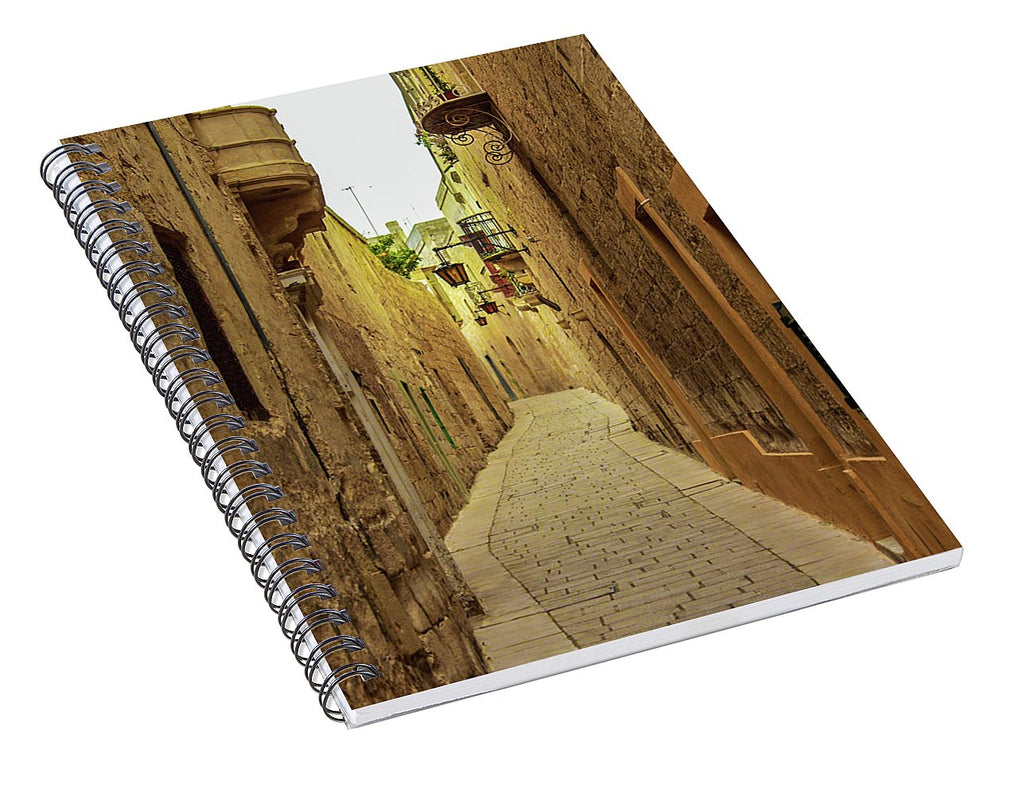 On The Streets Of Malta - Spiral Notebook