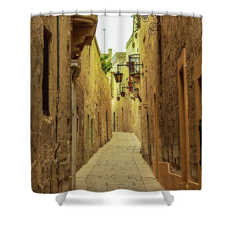 On The Streets Of Malta - Shower Curtain