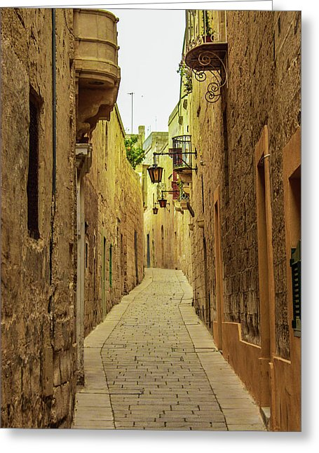 On The Streets Of Malta - Greeting Card