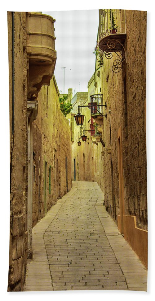 On The Streets Of Malta - Beach Towel