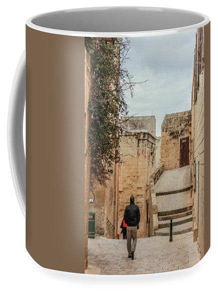 On The Streets Of Mdina Malta - Mug
