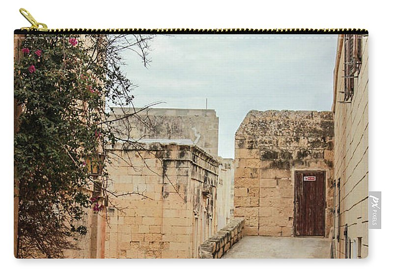 On The Streets Of Mdina Malta - Carry-All Pouch