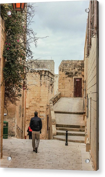 On The Streets Of Mdina Malta - Acrylic Print