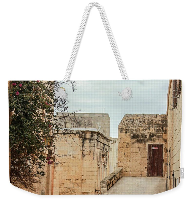 On The Streets Of Mdina Malta - Weekender Tote Bag