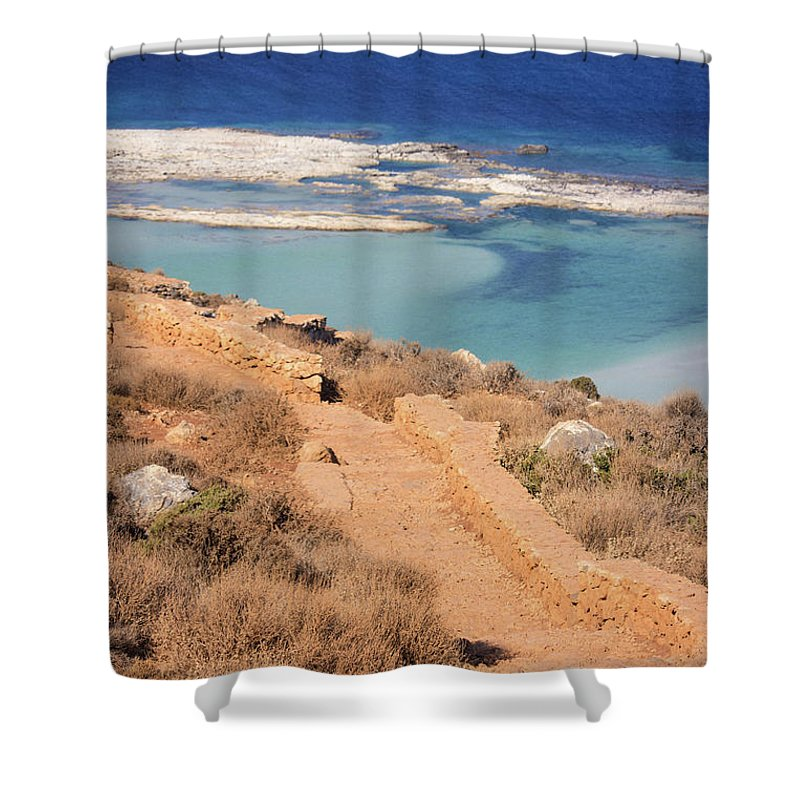 Pathway To The Sea - Shower Curtain