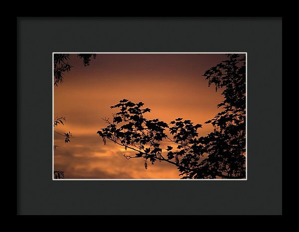 Sky On Fire - Framed Print