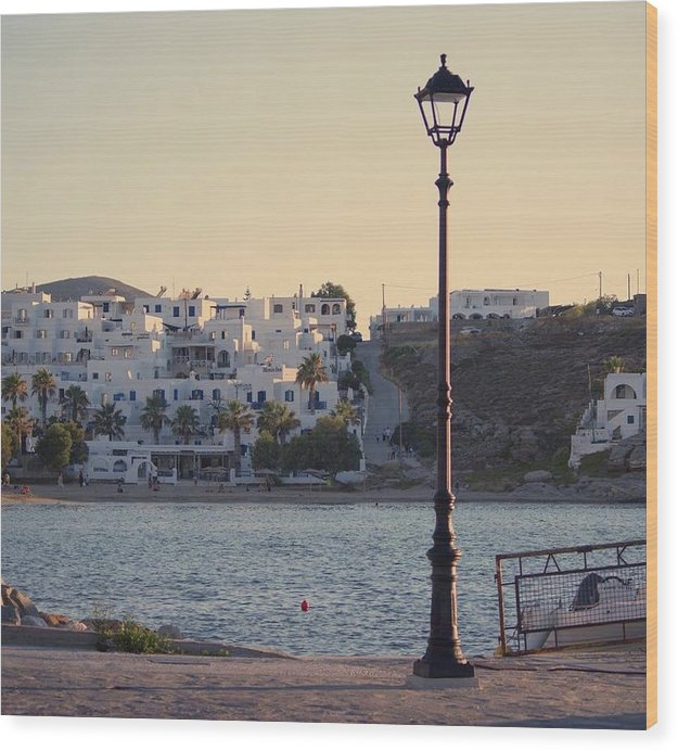 Sunset In Cyclades - Wood Print