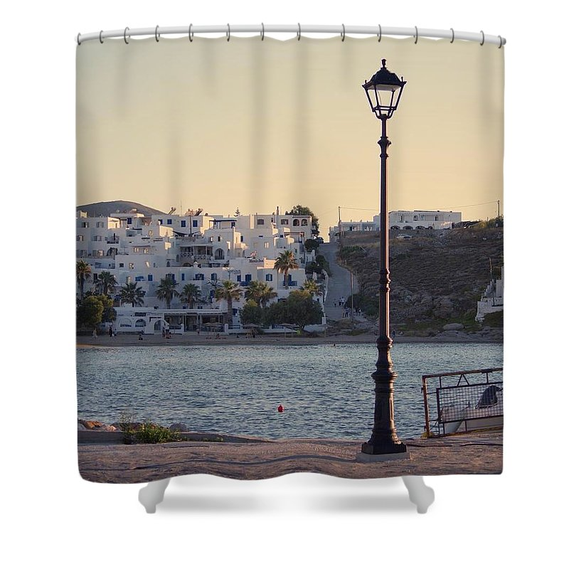 Sunset In Cyclades - Shower Curtain