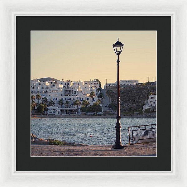 Sunset In Cyclades - Framed Print