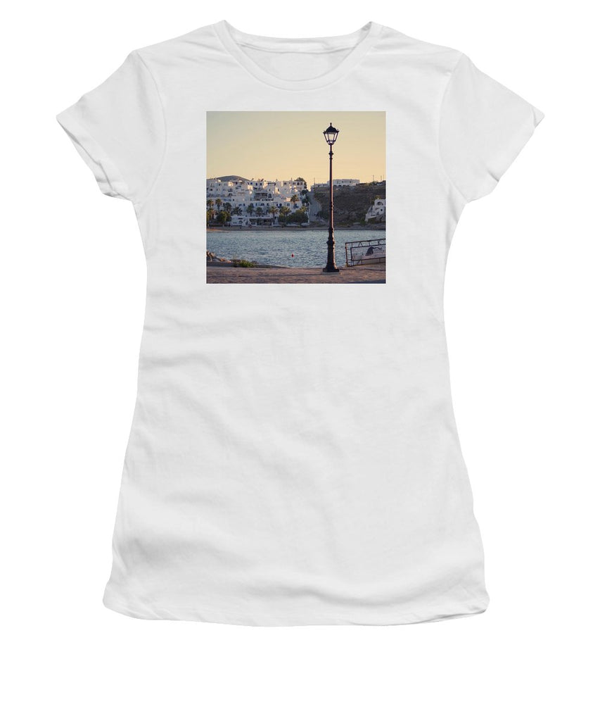 Sunset In Cyclades - Women's T-Shirt (Athletic Fit)