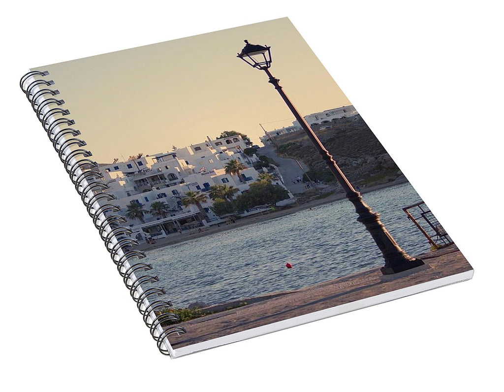 Sunset In Cyclades - Spiral Notebook