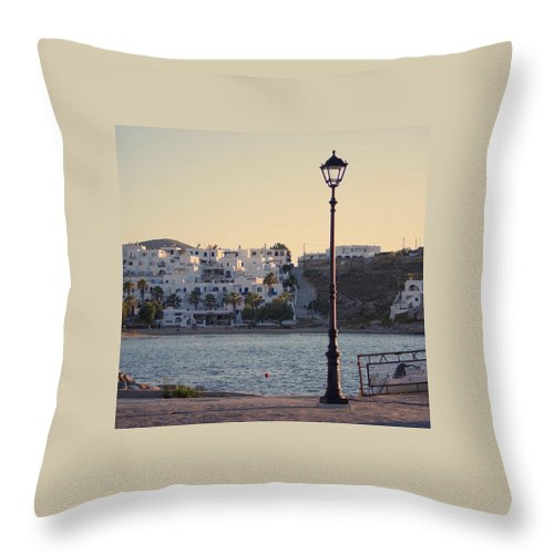 Sunset In Cyclades - Throw Pillow