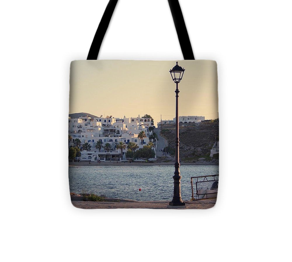 Sunset In Cyclades - Tote Bag