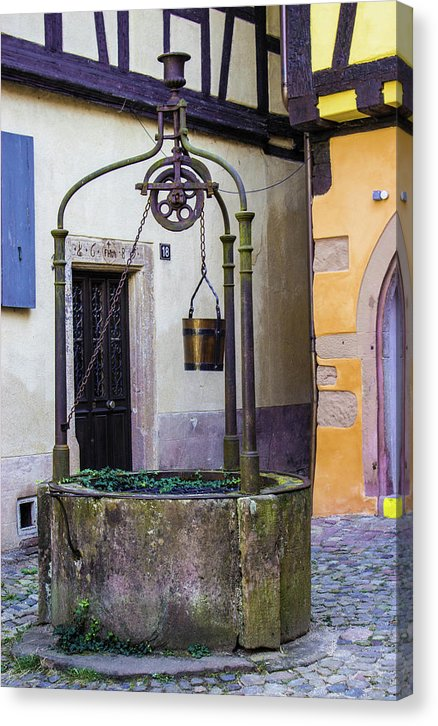 The Fountain Of Riquewihr - Canvas Print