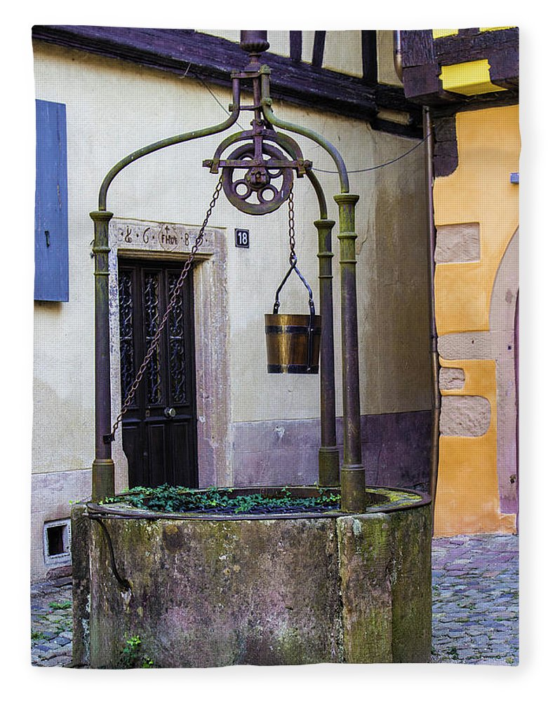 The Fountain Of Riquewihr - Blanket