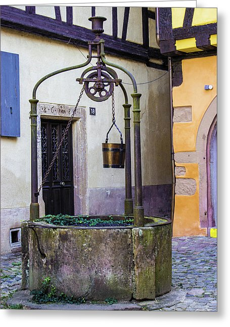 The Fountain Of Riquewihr - Greeting Card