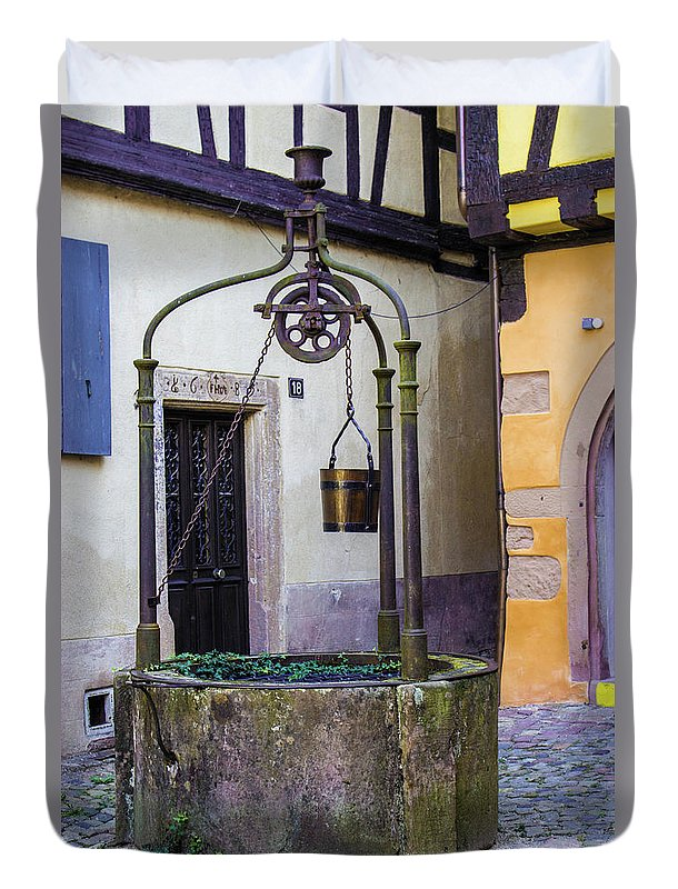 The Fountain Of Riquewihr - Duvet Cover
