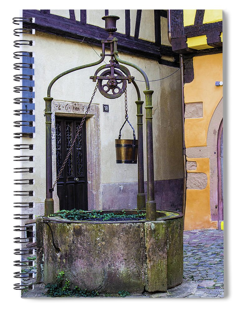 The Fountain Of Riquewihr - Spiral Notebook