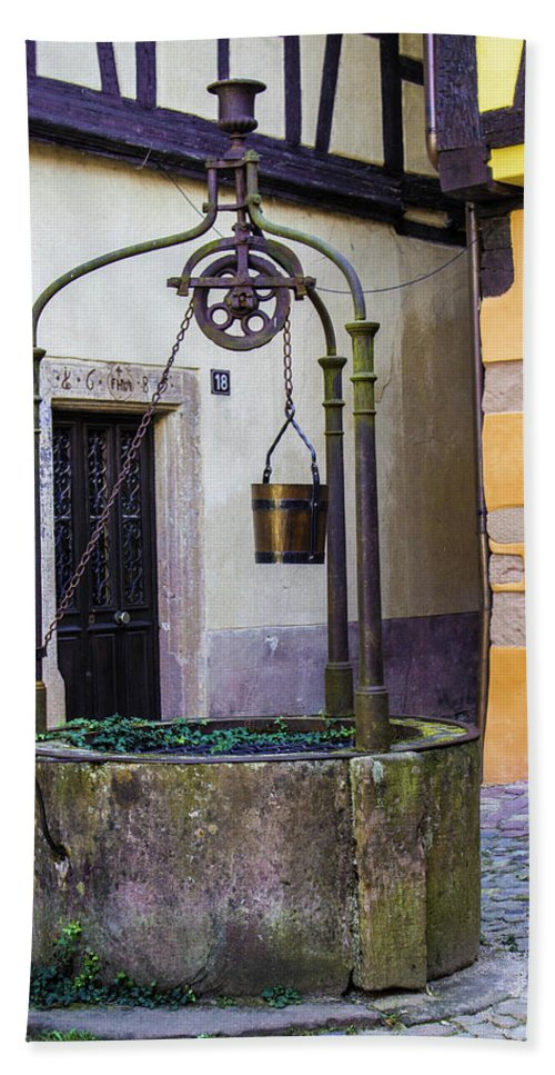 The Fountain Of Riquewihr - Beach Towel