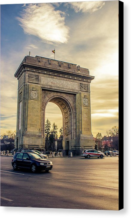 Triumphal Arch Bucharest - Canvas Print