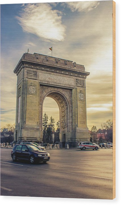 Triumphal Arch Bucharest - Wood Print