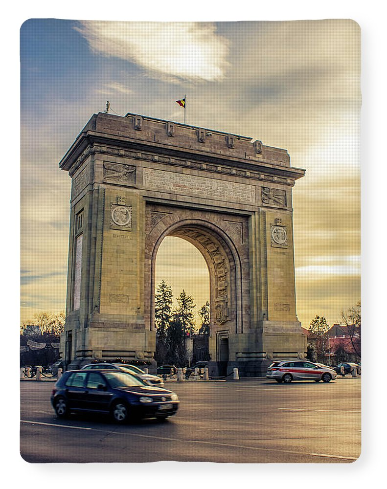 Triumphal Arch Bucharest - Blanket
