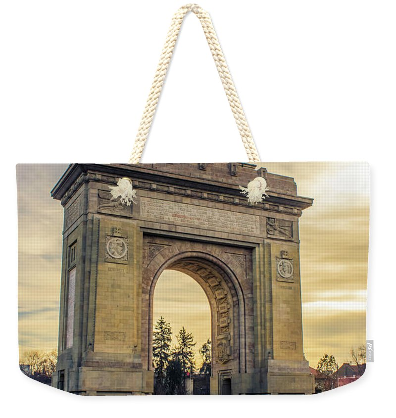 Triumphal Arch Bucharest - Weekender Tote Bag