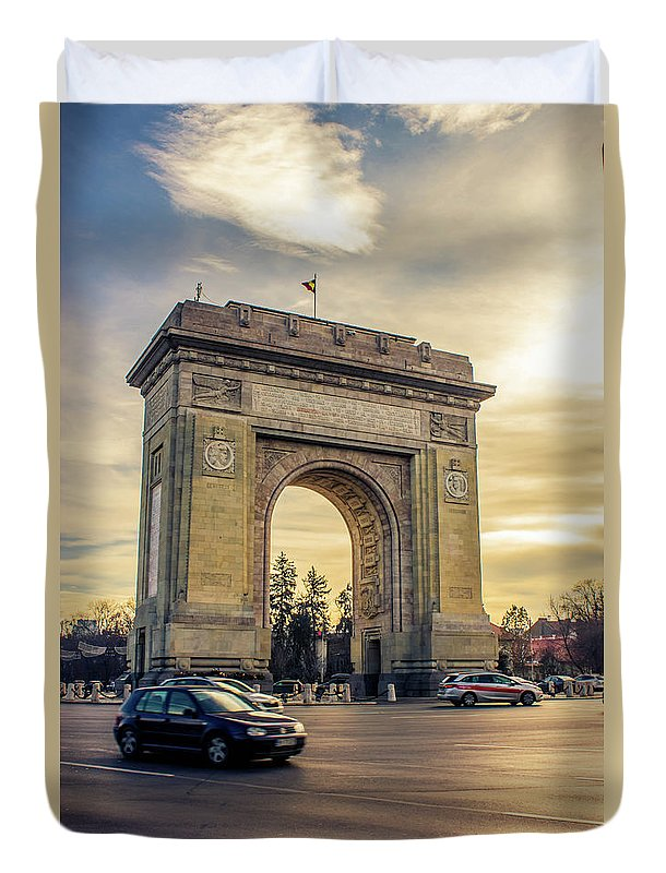 Triumphal Arch Bucharest - Duvet Cover