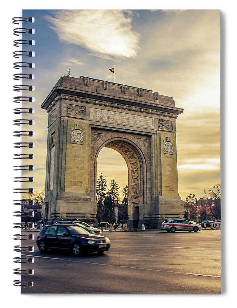 Triumphal Arch Bucharest - Spiral Notebook