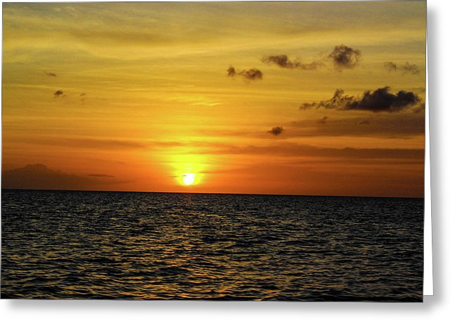 Tropical Sunset - Greeting Card