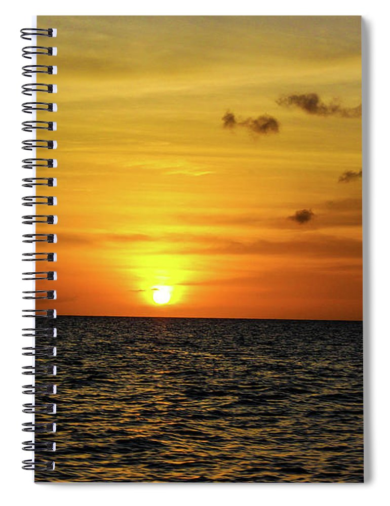 Tropical Sunset - Spiral Notebook