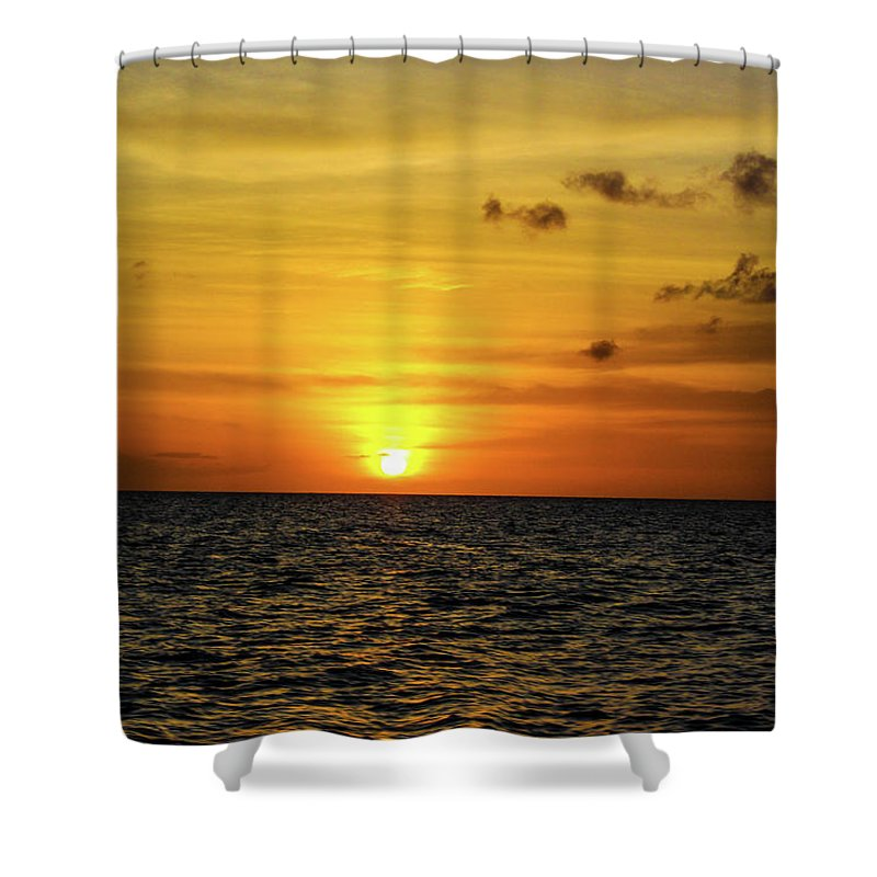 Tropical Sunset - Shower Curtain