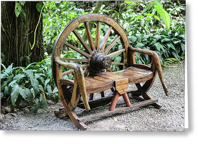 Wheel Bench - Greeting Card