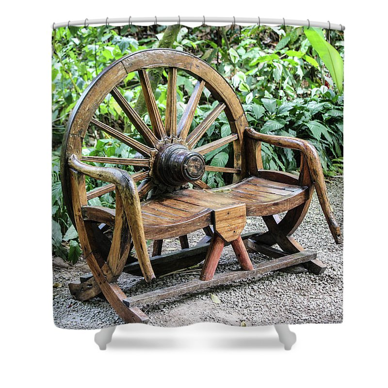 Wheel Bench - Shower Curtain