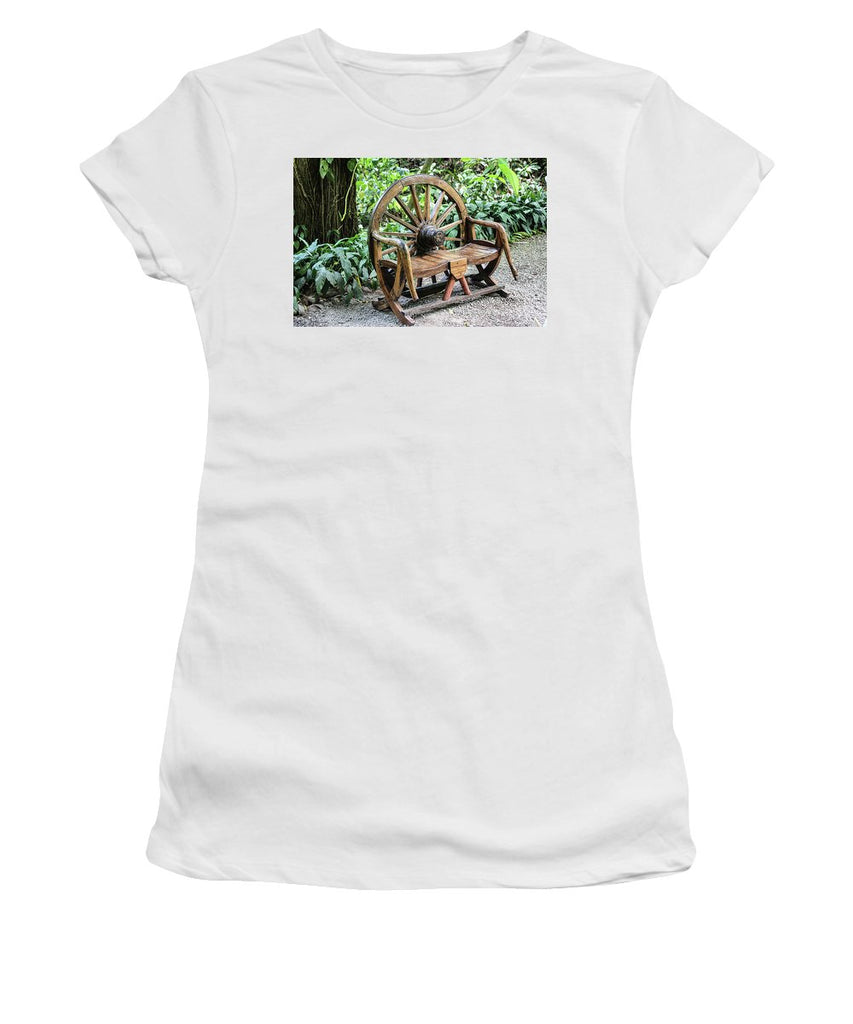 Wheel Bench - Women's T-Shirt (Athletic Fit)