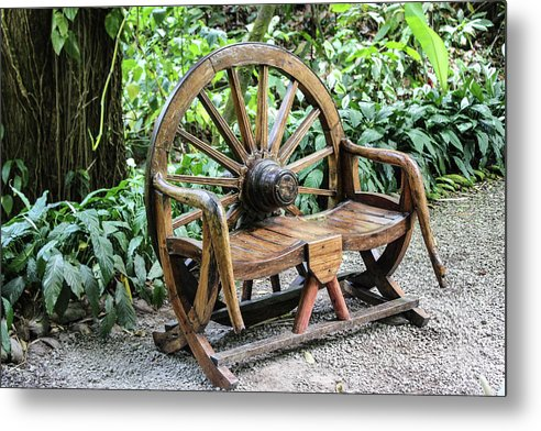 Wheel Bench - Metal Print